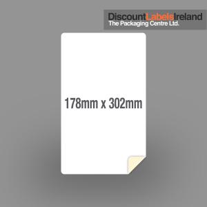 172mm 302mm Label